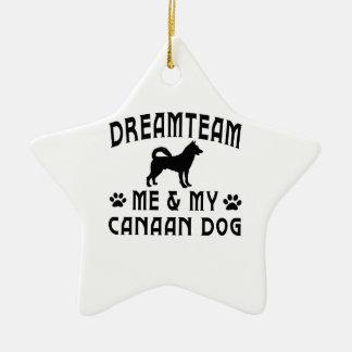 Mi perro del perro de Canaan Adorno De Cerámica En Forma De Estrella