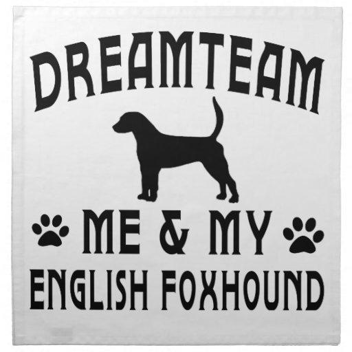 Mi perro del raposero inglés servilletas de papel