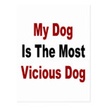 Mi perro es el perro más vicioso tarjeta postal