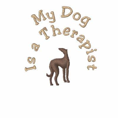 Mi perro es un mascota divertido del terapeuta polo t-shirt