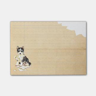 Mi perro esquimal comió mi preparación post-it nota