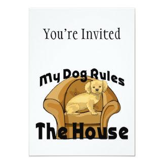 Mi perro gobierna la casa invitación 12,7 x 17,8 cm