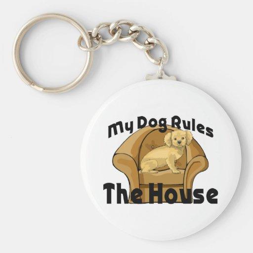 Mi perro gobierna la casa llaveros personalizados