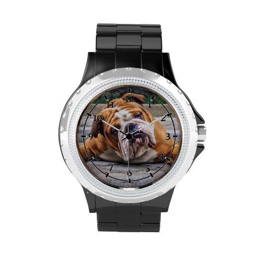 ¡Mi perro gruñón está diciendo el dogo!!! Relojes De Pulsera