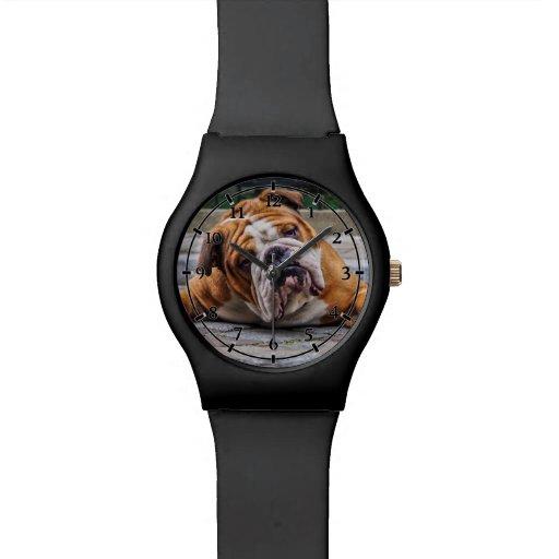 ¡Mi perro gruñón está diciendo el dogo!!! Relojes De Mano