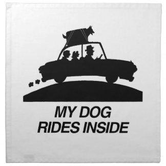 Mi perro monta inside.png servilleta de papel