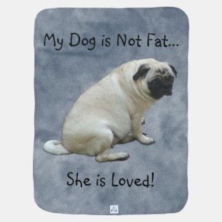 Mi perro no es barro amasado gordo manta de bebé