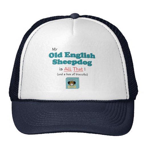 ¡Mi perro pastor inglés viejo es todo el eso! Gorro De Camionero