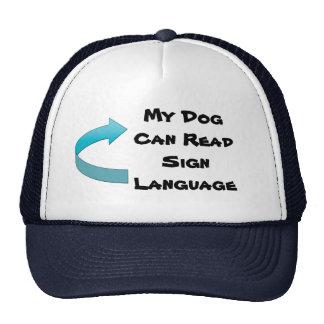 Mi perro puede leer lenguaje de signos gorro
