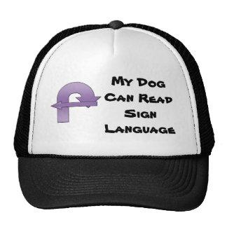 Mi perro puede leer lenguaje de signos gorros bordados