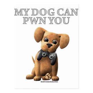 Mi perro puede PWN usted Tarjetas Postales
