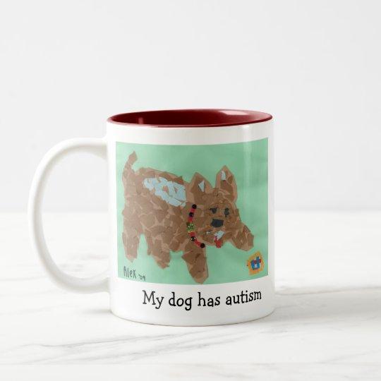 Mi perro tiene taza del autismo