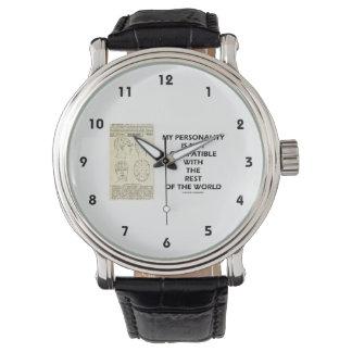 Mi personalidad no es resto del mundo compatible relojes de mano