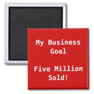 Mi personalizable de la meta de negocio imán cuadrado