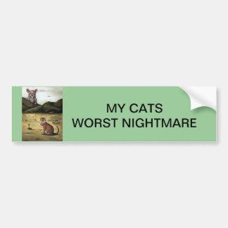 Mi pesadilla peor de los gatos pegatina para auto