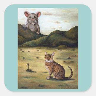 Mi pesadilla peor de los gatos calcomanía cuadradas