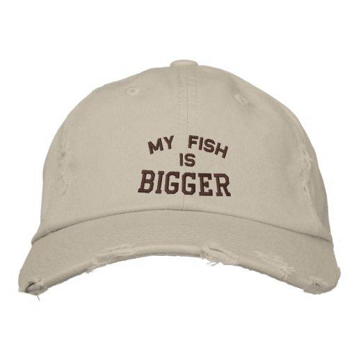 Mi pescado es, más grande gorra de béisbol bordada