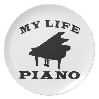Mi piano de la vida plato de comida