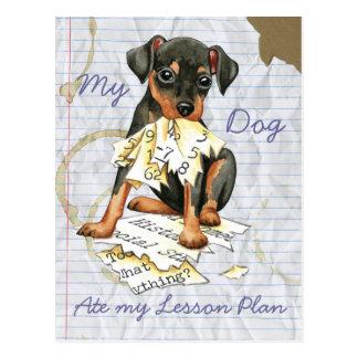 Mi Pin del minuto comió mi plan de lección Tarjetas Postales