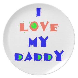 Mi placa del papá plato de comida