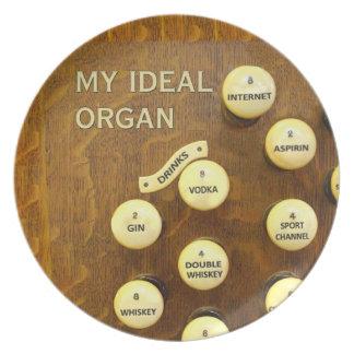 Mi placa ideal del órgano plato