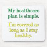 Mi plan de la atención sanitaria es simple tapete de ratones