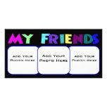 Mi plantilla de la foto de los amigos tarjeta fotográfica