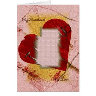 Mi plantilla de la tarjeta del amor