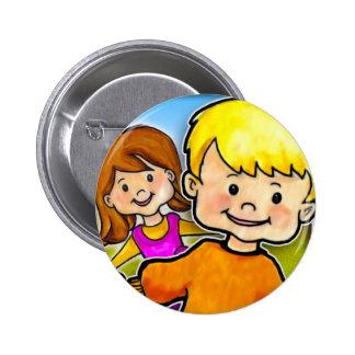 Mi PlayHome, botón redondo de la pulgada de 2 ¼ Pin Redondo De 2 Pulgadas
