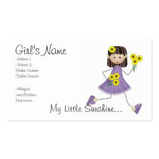 Mi poca tarjeta de la mamá de la sol tarjetas de visita