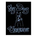 Mi postal de Urano del perro