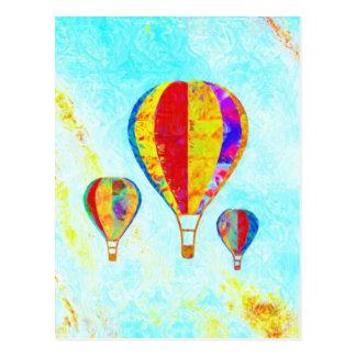 Mi postal hermosa de los globos