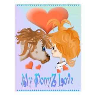 Mi postal indicada con letras del amor de PonyZ
