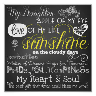 Mi poster del amor y de la inspiración de la hija