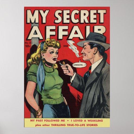 Mi poster secreto del cómic del asunto 1