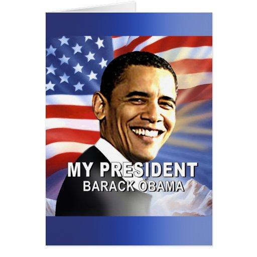 Mi presidente (bandera) tarjeta de felicitación