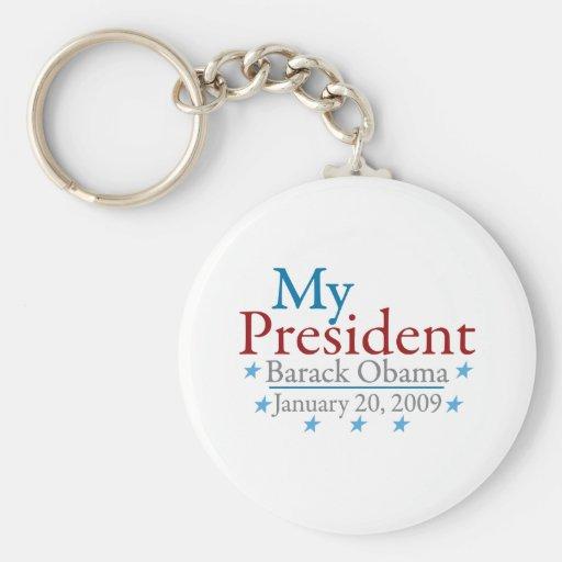 Mi presidente (Barack Obama) Llavero Redondo Tipo Pin