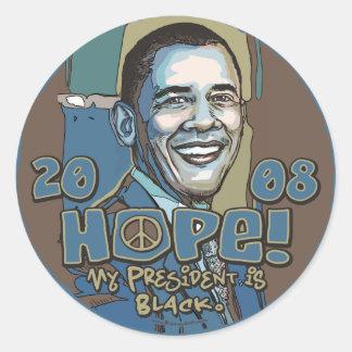 Mi presidente es pegatina negro de Obama
