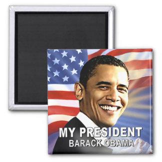 Mi presidente Magnet (bandera) Imán Cuadrado