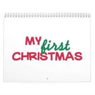 Mi primer 1r navidad calendario de pared