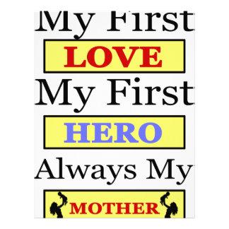 Mi primer amor mi primer héroe siempre mi madre membrete personalizado
