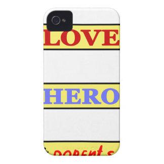 Mi primer amor mi primer héroe siempre mis padres funda para iPhone 4