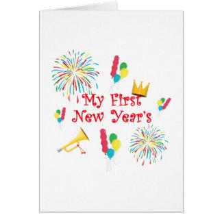 Mi primer Año Nuevo Felicitación