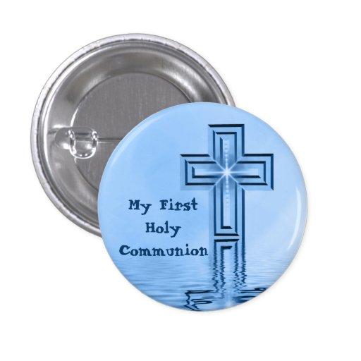 Mi primer botón de la comunión santa