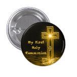 Mi primer botón de la comunión santa pin