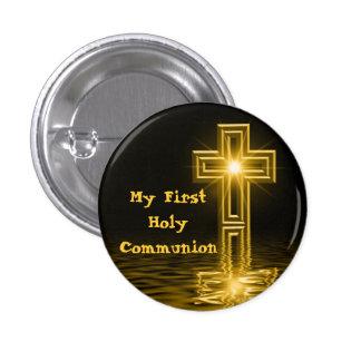 Mi primer botón de la comunión santa pin redondo de 1 pulgada