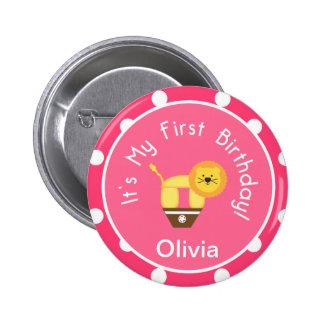 Mi primer botón del cumpleaños pin