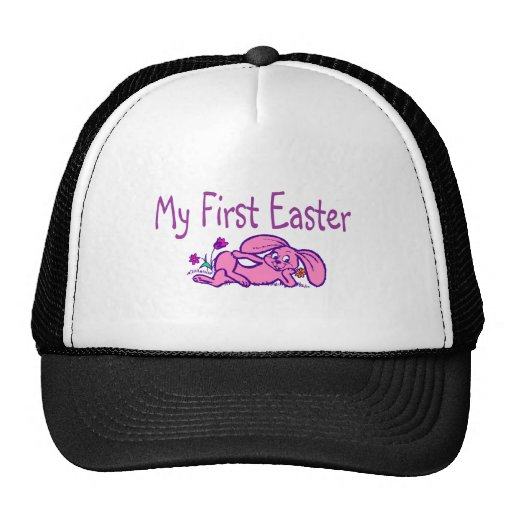 Mi primer conejito púrpura de Pascua pascua Gorra