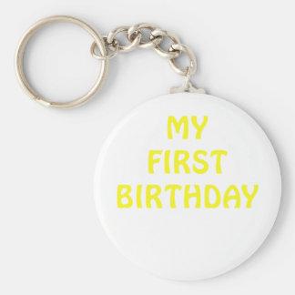 Mi primer cumpleaños llaveros