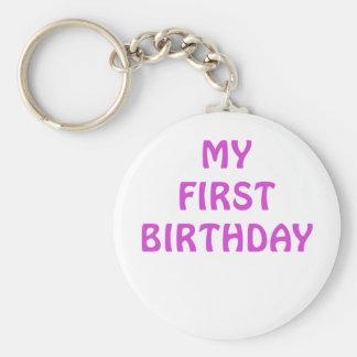 Mi primer cumpleaños llaveros personalizados
